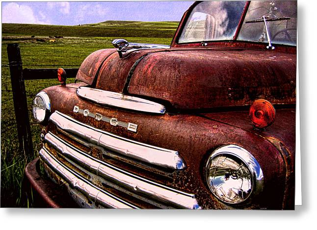 Dodge Day Greeting Card by Kathy Bassett