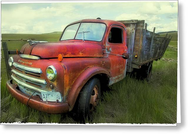 Dodge Farm Truck  Greeting Card by Theresa Tahara
