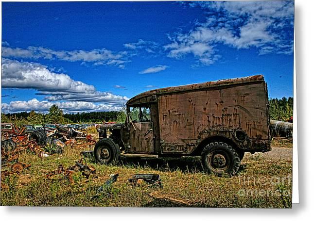 Dodge Military Truck Greeting Card