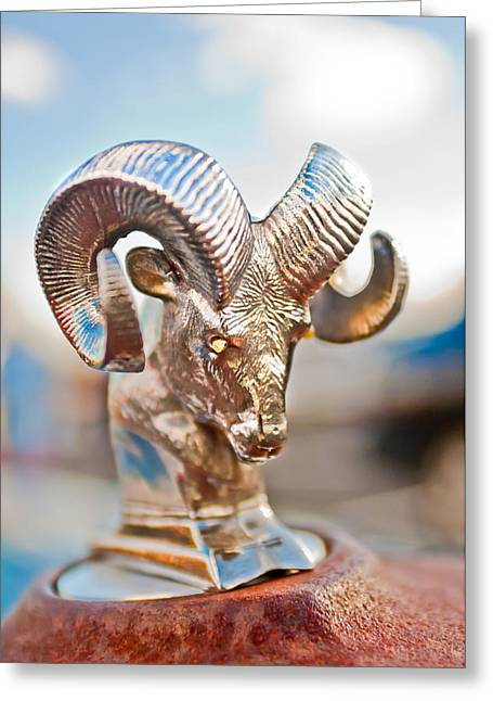 Car Part Greeting Cards - Dodge Ram Hood Ornament 3 Greeting Card by Jill Reger
