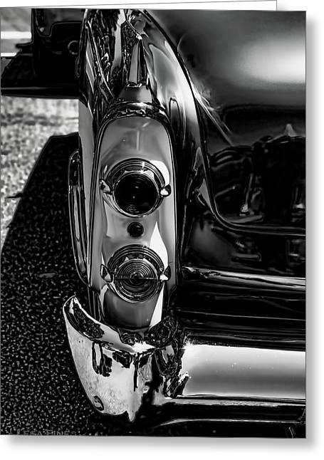 Dodge Royal Lancer Tail Light Art Charcoal Greeting Card