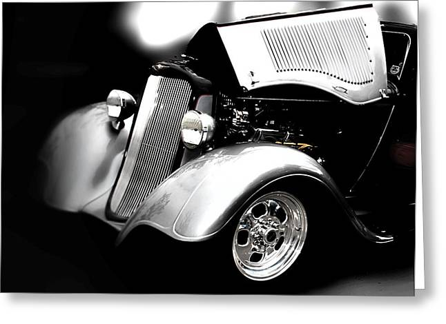 Black And White Greeting Card featuring the photograph Dodge This by Aaron Berg