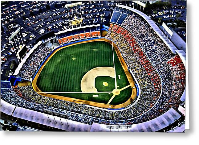 Dodger Stadium Painting Greeting Card