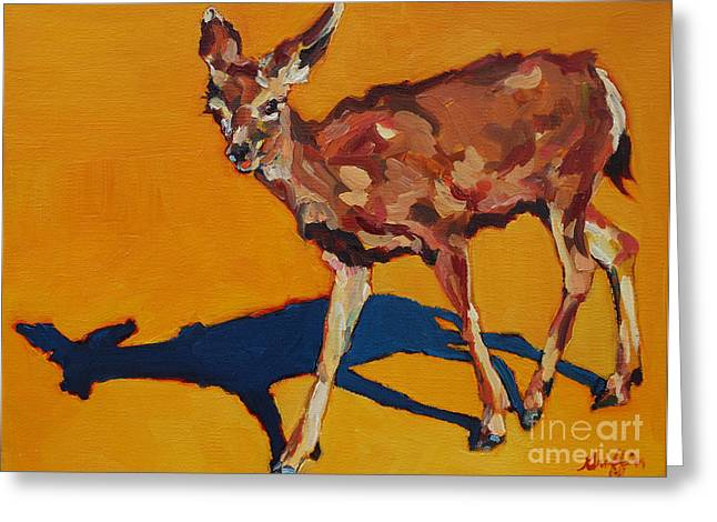 Doe At Grand Canyon Greeting Card
