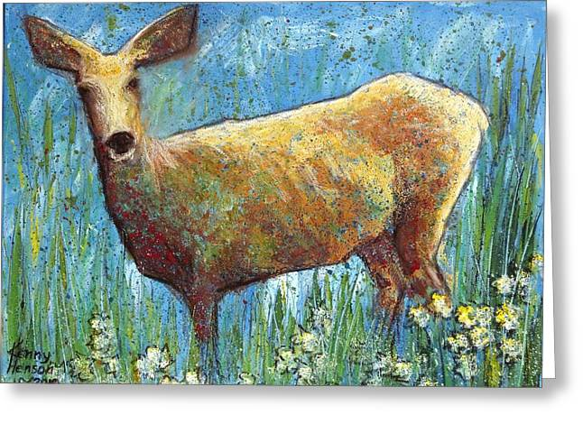 Doe Greeting Card by Kenny Henson