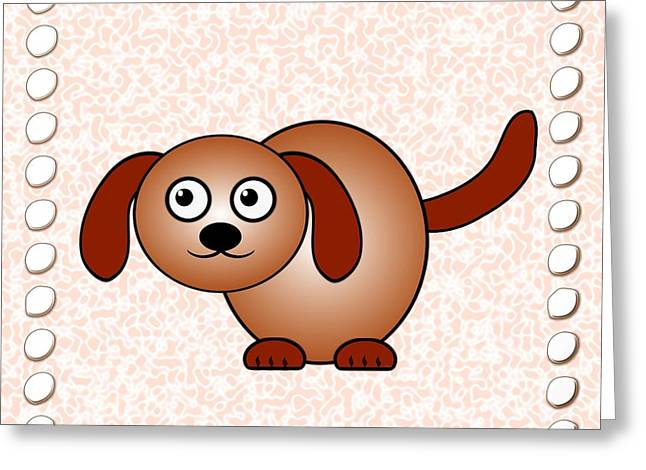 Dog - Animals - Art For Kids Greeting Card by Anastasiya Malakhova