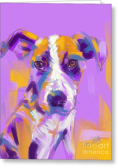 Dog Charlie Greeting Card by Go Van Kampen