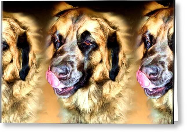 Greeting Card featuring the digital art Dog by Daniel Janda