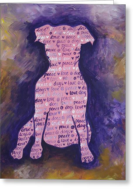 Dog Day Greeting Card by Leslie Manley