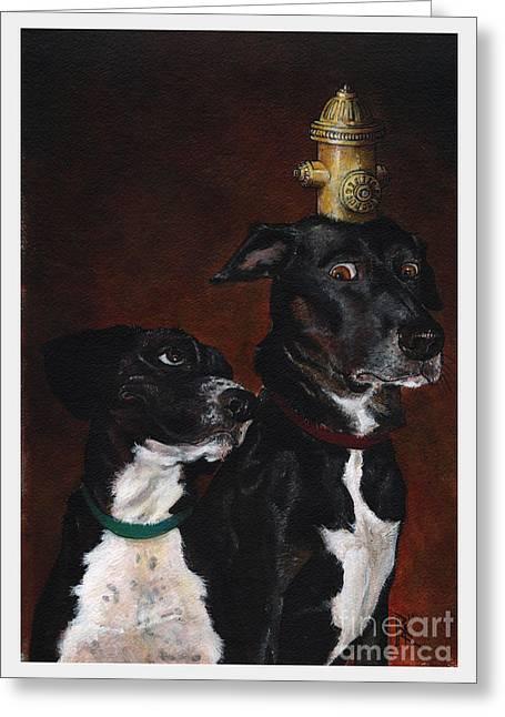 Dog Dayja Vu Greeting Card by Richardson Comly