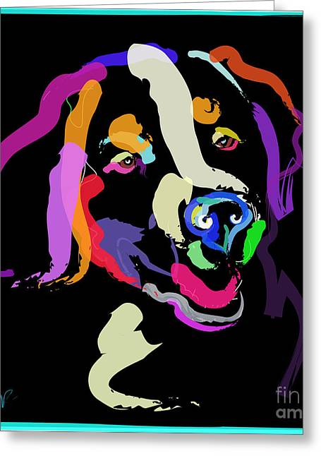 Dog Iggy Color Me Bright Greeting Card
