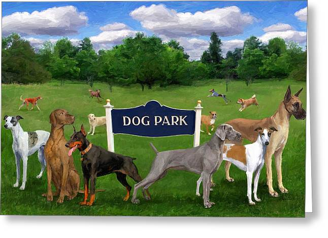 Dog Park Greeting Card