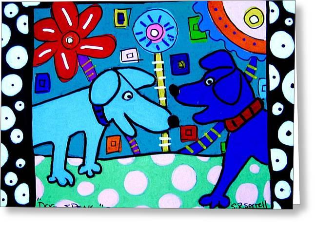 Dog Speak Greeting Card by Susan Sorrell