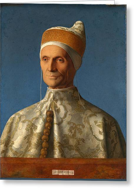 Doge Leonardo Loredan Greeting Card by Giovanni Bellini
