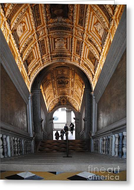 Doges Palace Entry Greeting Card by Jacqueline M Lewis