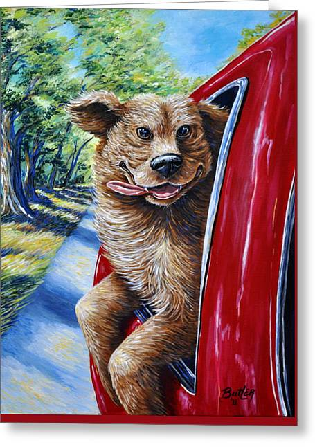 Dog...gone Happy Greeting Card