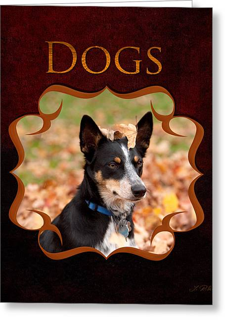 Dogs And Puppies Greeting Card by Iris Richardson