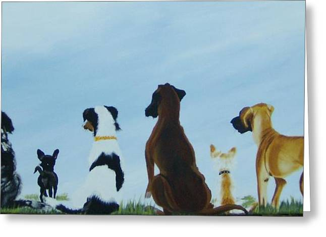 Dogs Looking For Our Forever Home Greeting Card