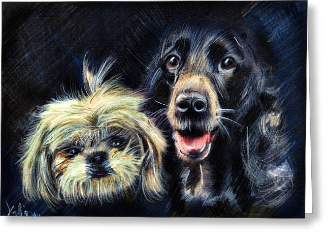 Dogs - Pencil Drawing Greeting Card