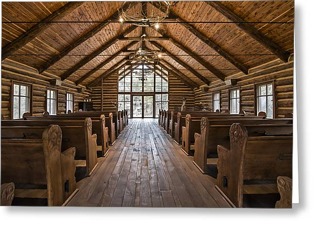 Dogwood Canyon Wilderness Chapel Greeting Card