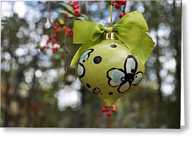 Dogwood Majolica Maiolica Ornament Greeting Card