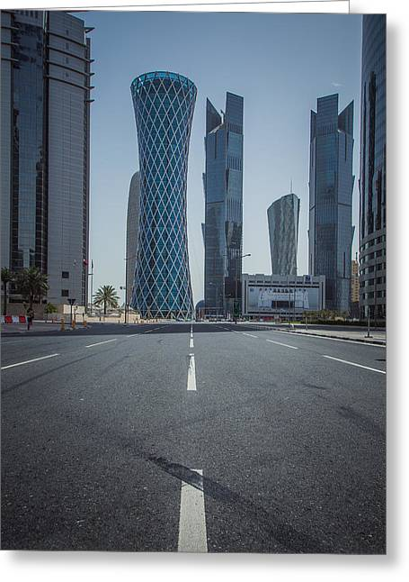 Doha Road Greeting Card by Charlie Tash