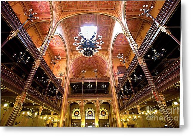 Madeline Ellis Greeting Cards - Dohany Synagogue in Budapest Greeting Card by Madeline Ellis