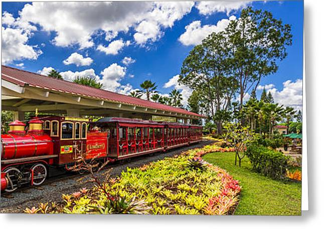 Dole Plantation Train 3 To 1 Aspect Ratio Greeting Card
