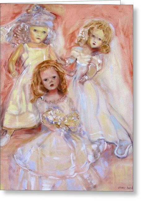 Doll Fancy Greeting Card by Susan Hanlon