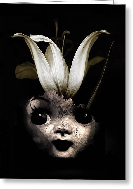 Doll Flower Greeting Card by Johan Lilja