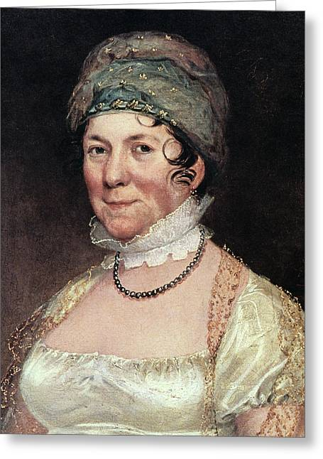 Dolley Payne Todd Madison (1768-1849) Greeting Card by Granger