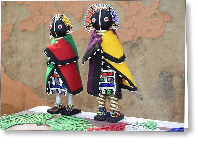 Dolls For Sale, Soweto, Johannesburg Greeting Card by Panoramic Images