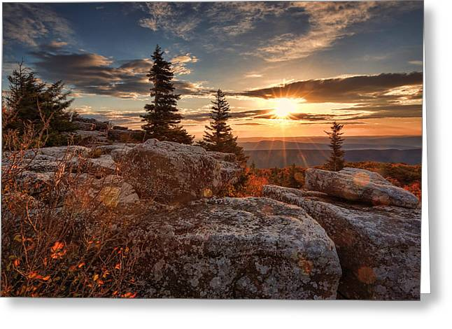 Dolly Sods Morning Greeting Card by Jaki Miller