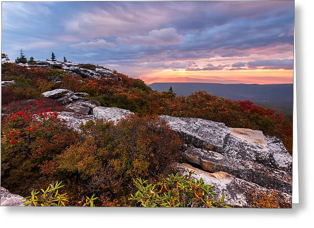 Dolly Sods October Sunrise Greeting Card