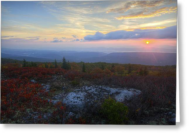 Dolly Sods Sunrise Greeting Card by Michael Donahue