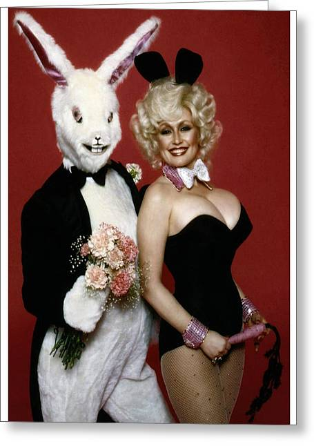 Dolly With Playboy Rabbit Greeting Card by Brian Graybill