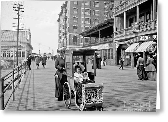 Dolly's Go-cart In Atlantic City Greeting Card