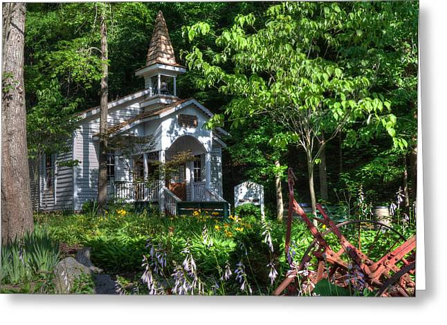 Dollywood Church Greeting Card by Mark Bowmer