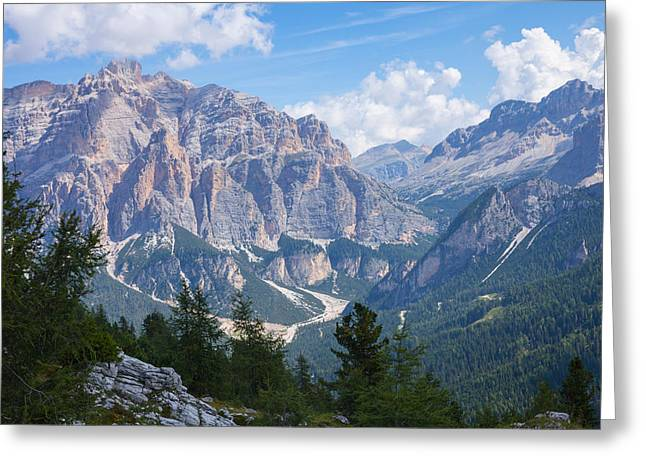 Dolomite Mountain View Greeting Card
