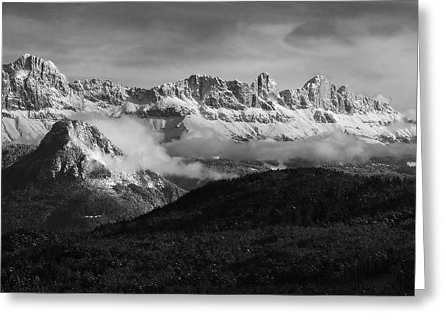 Dolomite Mountains - Italian Alps Greeting Card