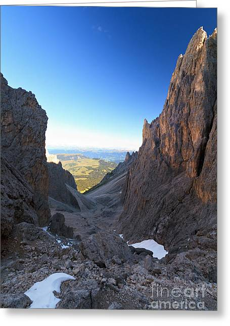 Greeting Card featuring the photograph Dolomites At Morning by Antonio Scarpi