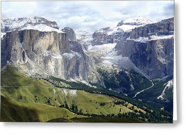 Dolomites Greeting Card by Cordelia Molloy