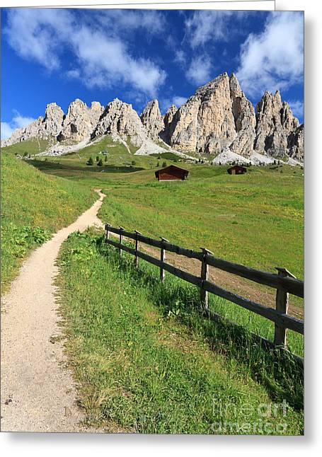 Dolomiti - Cir Group Greeting Card by Antonio Scarpi