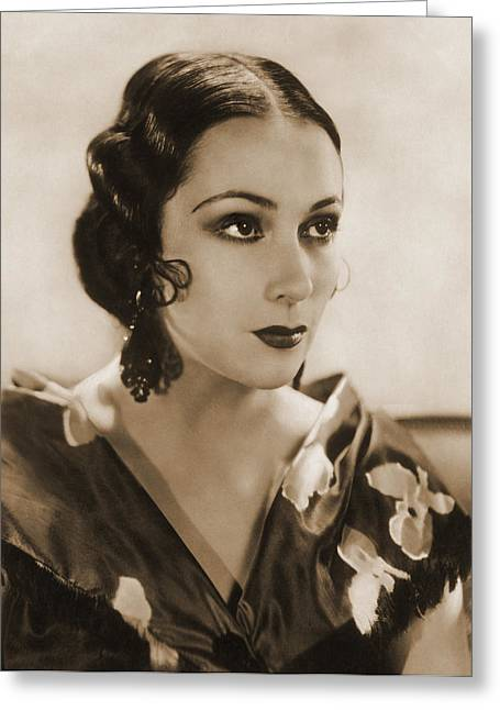 Dolores Del Rio, Hollywood Movie Star Greeting Card