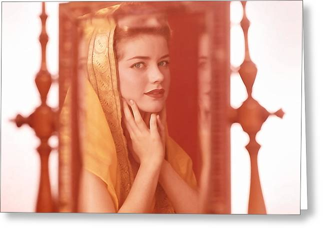 Dolores Hart Greeting Card by Frank Bez