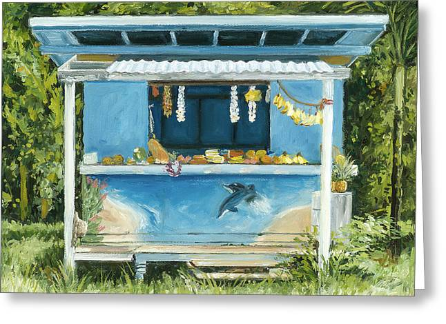 Dolphin Bar Greeting Card by Stacy Vosberg