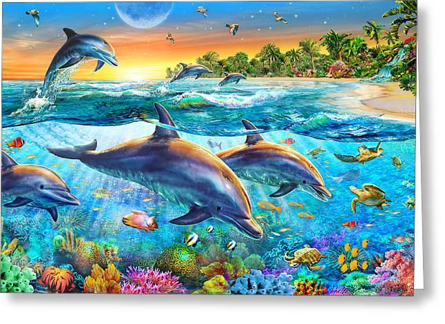 Dolphin Bay Greeting Card
