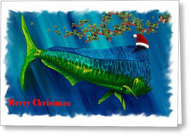 Dolphin Card Greeting Card by Steve Ozment