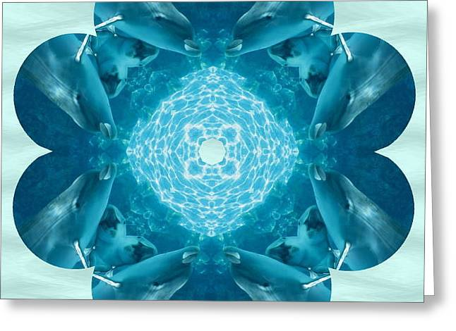 Dolphin Kaleidoscope Greeting Card