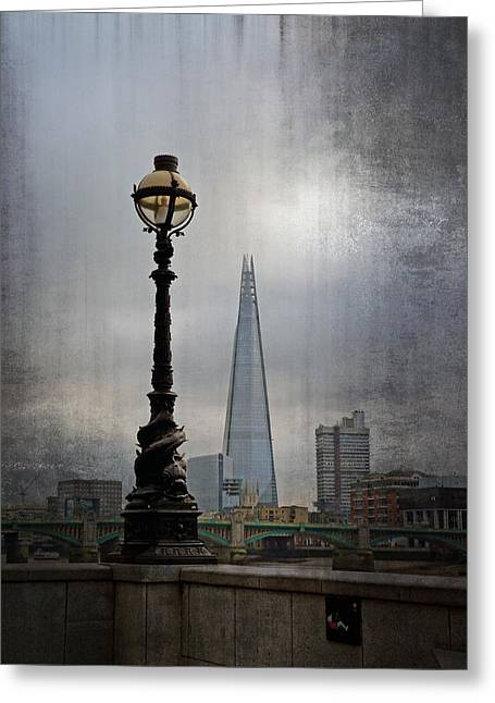 Dolphin Lamp Posts London Greeting Card by Lynn Bolt
